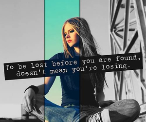 Avril Lavigne and quote image