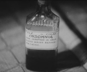 insomnia, black and white, and bottle image