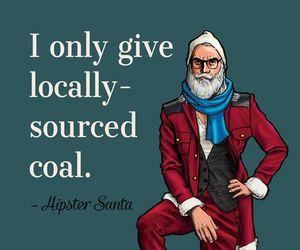 hipster, funny, and santa image