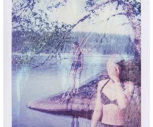 girl, summer, and tree image