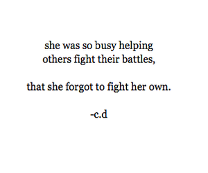 quote, sad, and battle image