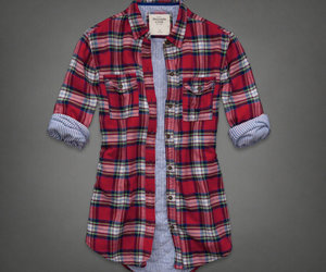 abercrombie and fitch, plaid, and winter image