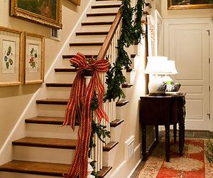 christmas, elegant, and staircase image
