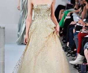 fashion, dress, and oscar de la renta image