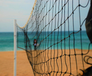 beach, net, and summer image