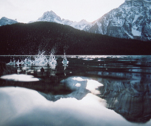 mountains, landscape, and winter image