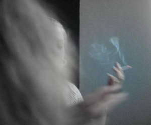 cigarette, ghost, and pale image