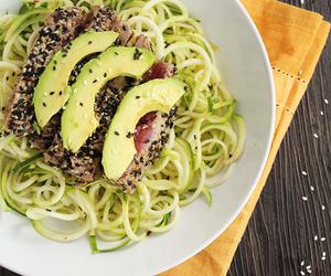 avocado, healthy, and sesame image