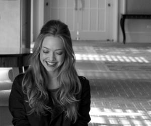 amanda seyfried, black and white, and smile image