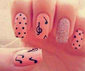black, music, and nails image