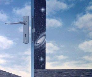 door, sky, and universe image