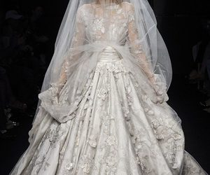 elie saab and wedding gown image