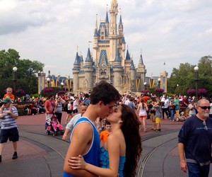 couple, disney, and kiss image