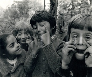 kids and black and white image