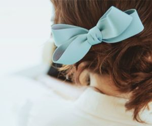 girl, cute, and blue image