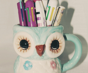 creative, hoot, and mug image