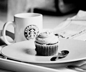 starbucks, coffee, and cupcake image