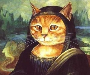 cat and mona lisa image