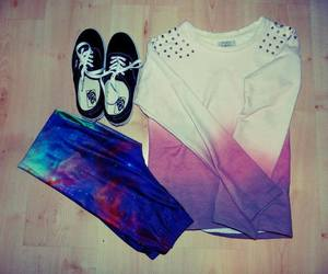 vans, outfit, and galaxy image