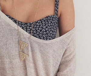 baggy, necklace, and sweater image