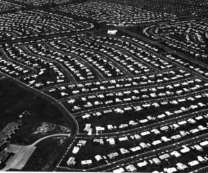 1959, homes, and aerial image