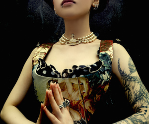 tattoo, corset, and piercing image