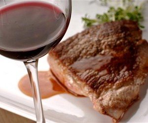 foods, steaks, and wines image