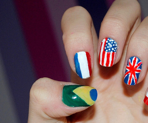 nails, usa, and brazil image