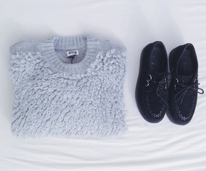 shoes, sweater, and clothes image