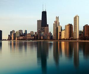 city, new york, and sea image
