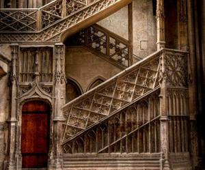Cathedral Stairs, Rouen, France by Sean Leahy | via Facebook
