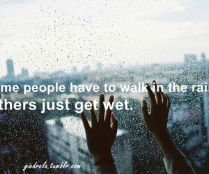 rain, sign, and text image