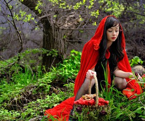 fairy tale, pretty, and red riding hood image