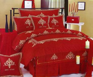 bedroom, red, and ideas image
