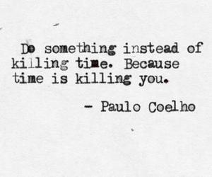 quote, time, and paulo coelho image