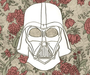 star wars, darth vader, and flowers image