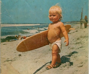 surf, baby, and summer image