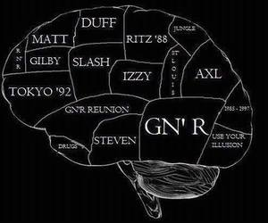 axl rose, brain, and use your illusion image