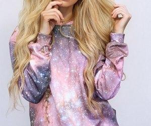 fashion, pretty, and galaxy image
