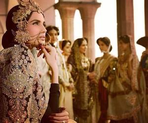 indian fashion, pakistani fashion, and wedding dress image