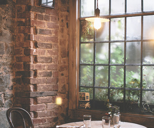 cafe, light, and restaurant image