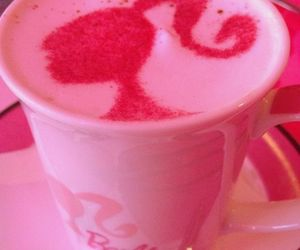 barbie, pink, and cup image