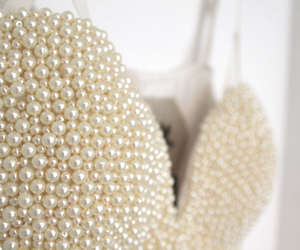 pearls, dress, and white image