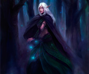 night elf and world of warcraft image