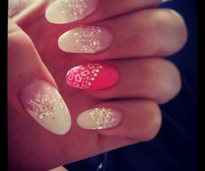 glitter, like, and nails image