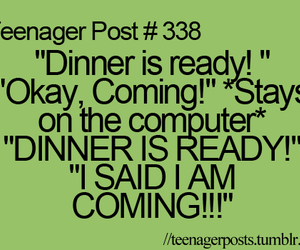 teenager post, funny, and dinner image