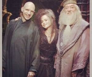 harry potter, voldemort, and dumbledore image