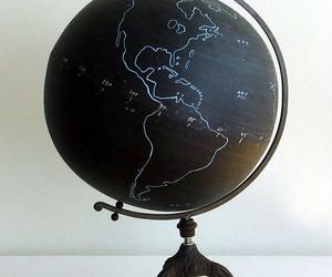 globe, black, and world image