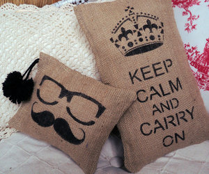 calm, carry on, and cushion image