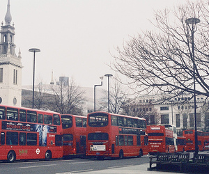 london, bus, and photography image